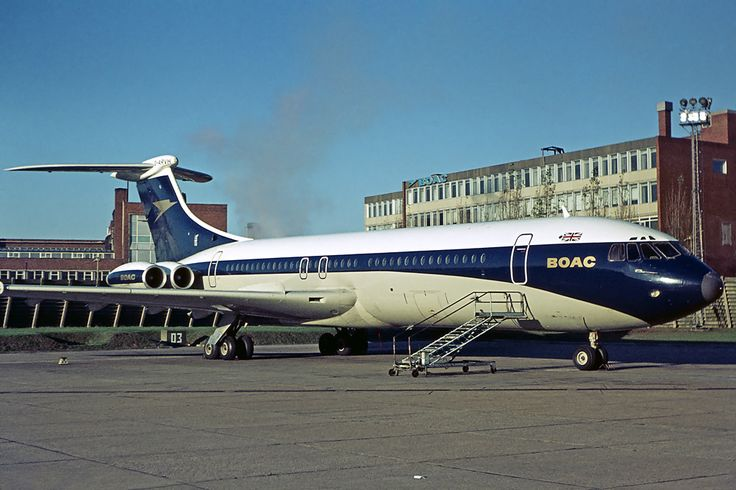 British Overseas Airways Corporation (BOAC) Vickers VC10 Srs1101 G-ARVH at London Heathrow Airport,1972