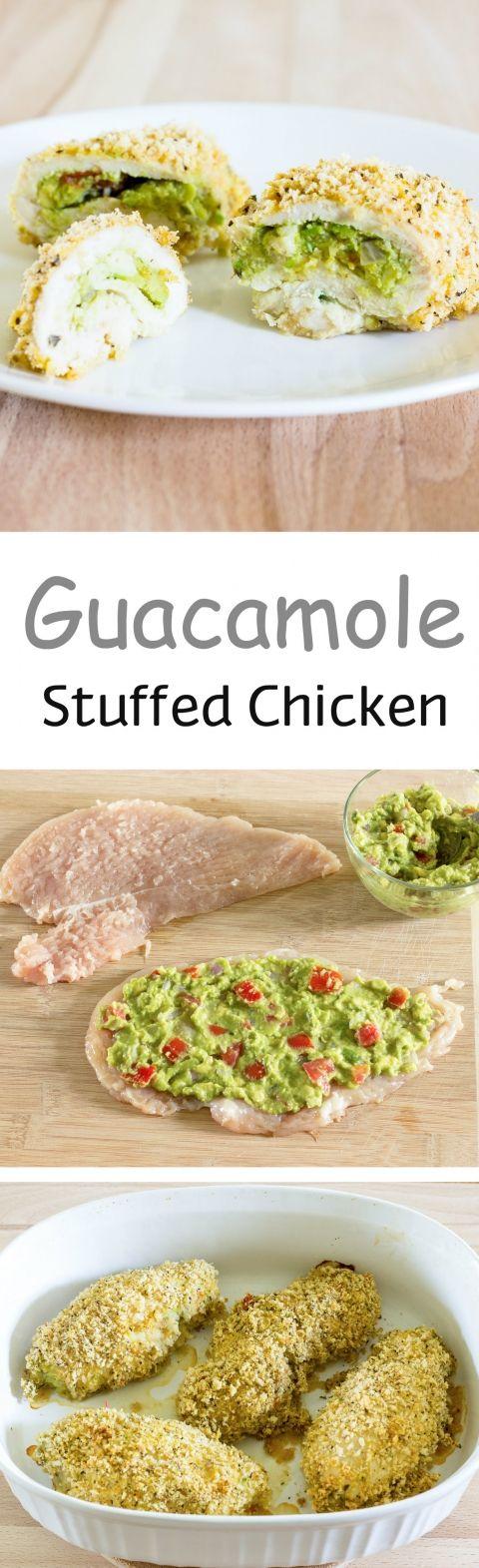 Guacamole Stuffed Chicken Breast- almond flour...