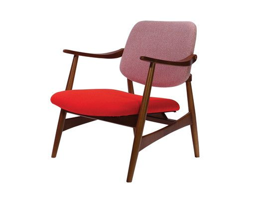 Standard Chair: Retro Timber Frame Chair With Upholstered Cushions, Great  For Break Out Spaces