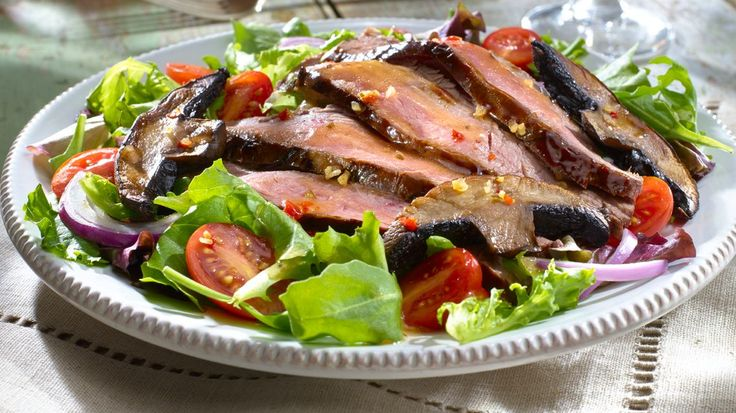 Grilled Flank Steak with Portobello Mushrooms. However you cook it ...