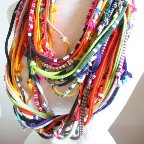 Infinity Scarf Multicolor Technicolor Dream Tribal by LovelySquid, $65.00