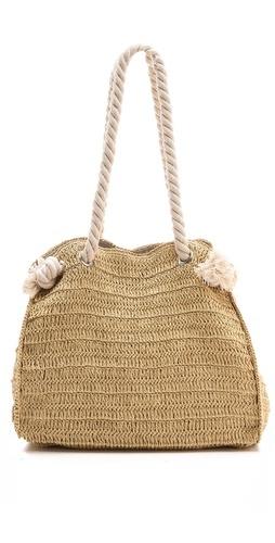 braided raffia and rope summer tote beach bag