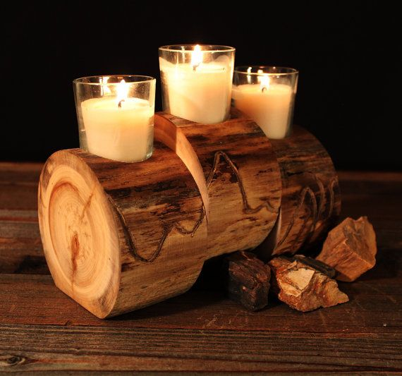 25 unique log candle holders ideas on pinterest diy for Log candles diy