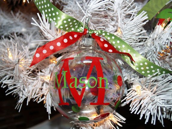 Personalized Christmas Ornaments Ideas 15 White