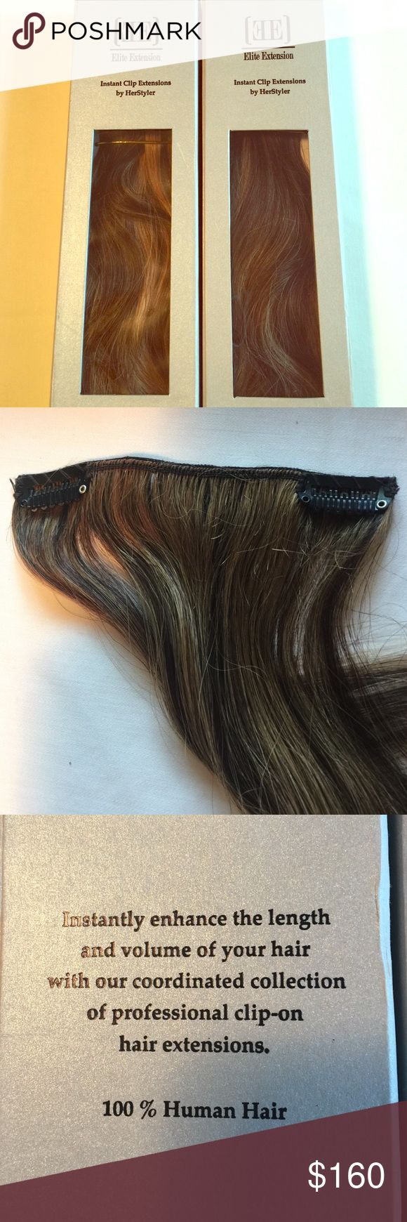 26 best extension images on pinterest hair extensions packaging elite hair extensions by herstyler 100 human hair 2 boxes instant clip extensions in pmusecretfo Choice Image