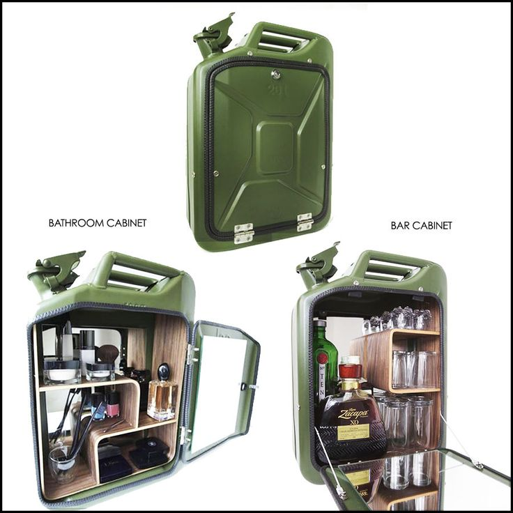 These Jerrycan Bar And Bathroom Cabinets Have Been Repurposed From Original  WWII Jerry Cans. Fitted