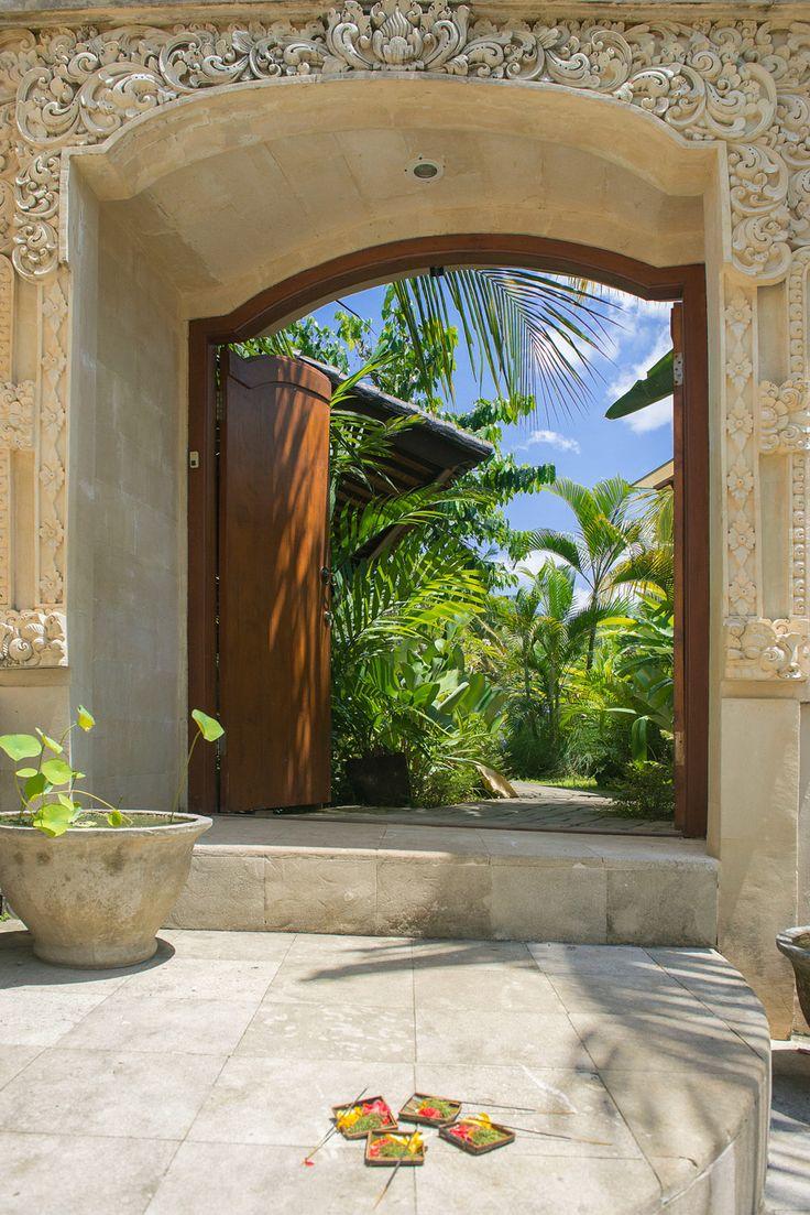 Gateway to paradise at Villa Ahh, Ubud, Bali.