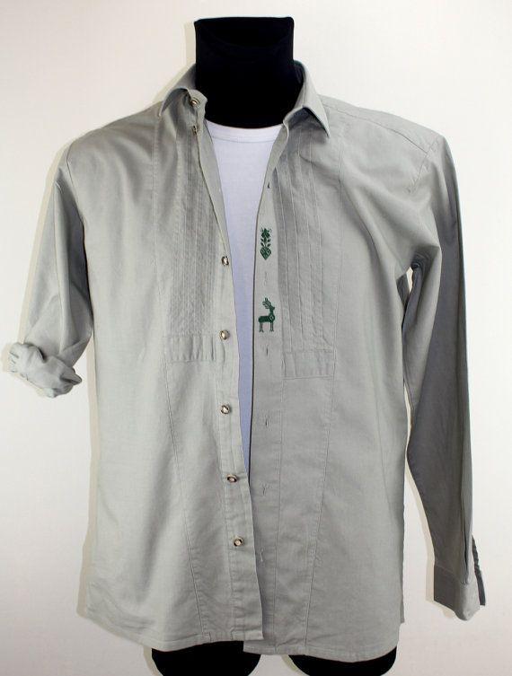 Vintage Deutsches Wander Hemd Second Hand by DesignerSecondHand
