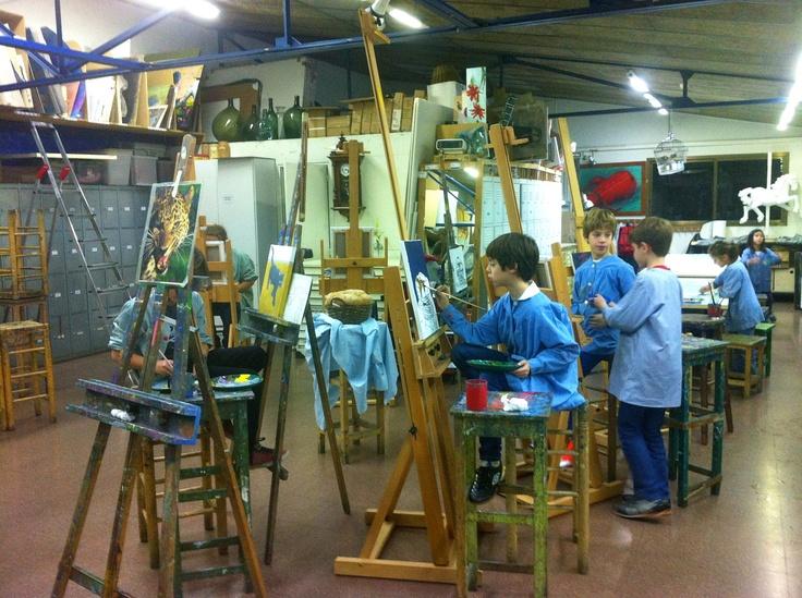 Taller de pintura petits curs 2013  www.escolatrac.com