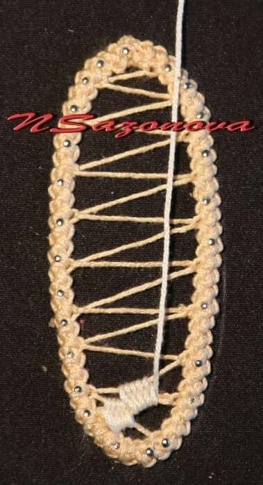 very clear needle lace diagram