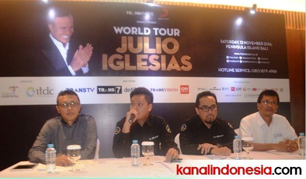 Julio Iglesias Gelar Konser Romantis di Bali Tanggal 12 November 2016