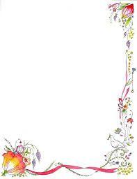 Border design flower borders and red flowers on pinterest