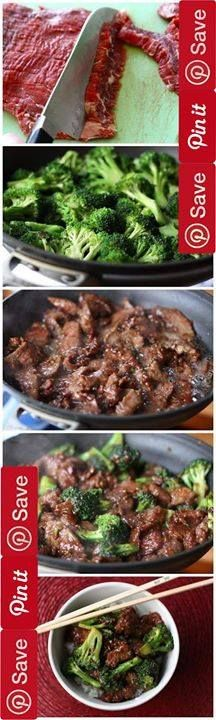 The Best Easy Beef and Broccoli Stir-Fry 25 mins to make serves 4 #beef I clipped this recipe from Taste of Home magazine several years ago and have found it to be the best-tasting easy beef and broccoliIngredientsGluten freeMeat1 lb Round steak or 1 lb charcoal chuck steak bonelessProduce4 cups Broccoli florets1/2 tsp Garlic powder1 tsp Ginger ground1 Onion small wedgesCondiments1/3 cup Soy sauce reduced sodiumPasta & Grains1 Rice hot cookedBaking & Spices2 tbsp Brown sugar3 tbsp…