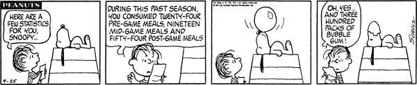 September 25, 1974 - statistics
