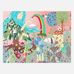 Blue Hair Rainbow Print A4 now featured on Fab.