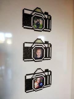 Photo frame photo camera hama beads tutorial by Glittertjes