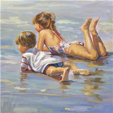 Lucelle Raad art of children on the beach