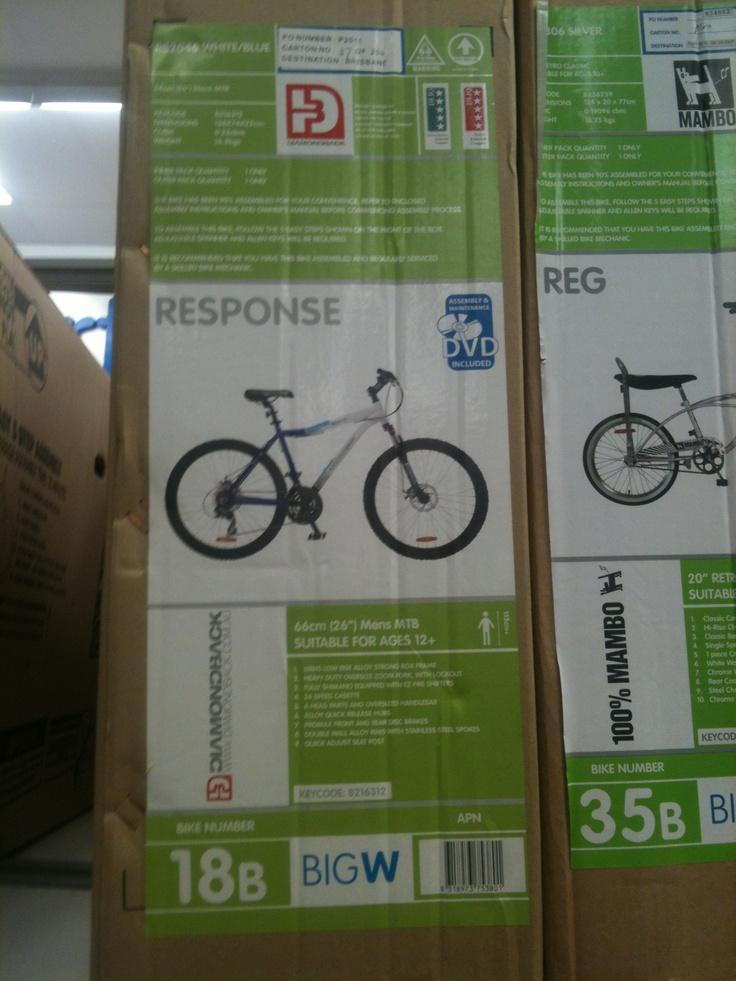 Diana, Big W.  Diamond back, Response mens bike, $398.00