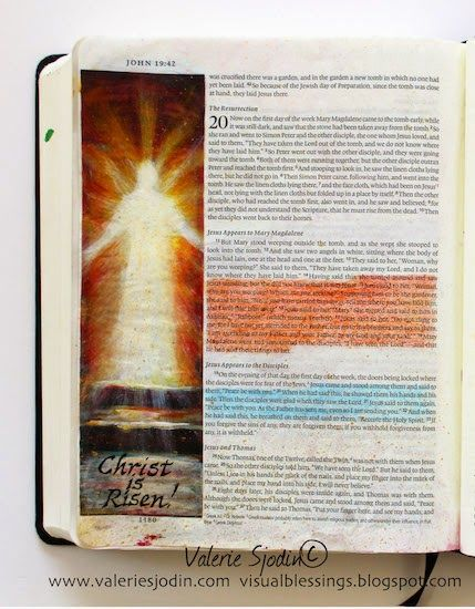 visual blessings: Resurrection Day! Bible Art Journaling
