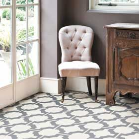 The beautiful new Parquet collection from Neisha Crosland, in classic charcoal.