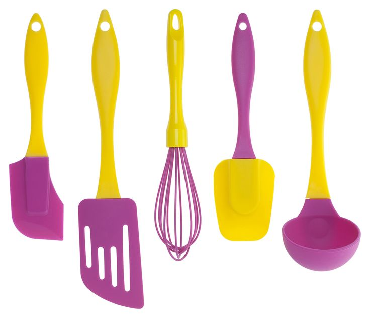 Brighten up the kitchen with these fun and great quality silicone utensils
