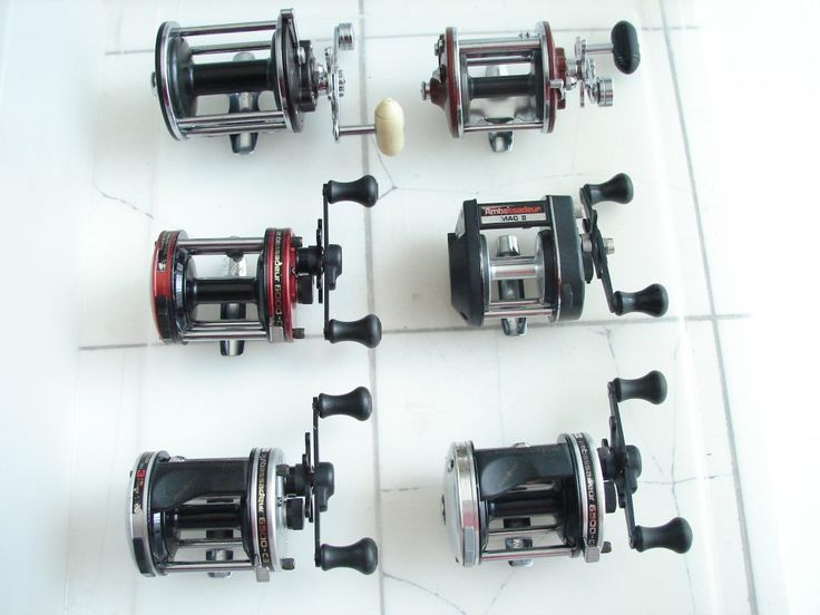 Fishing Reel Repair Services - 4 Abu Garcia's and 2 Penn Fishing Reels. http://www.sharpreel.com/the-dirty-six/