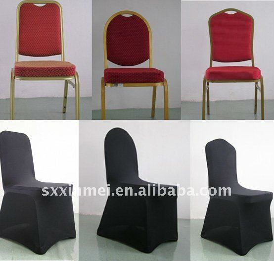 Universal Black spandex chair cover for weddings Black lycra chair cover for