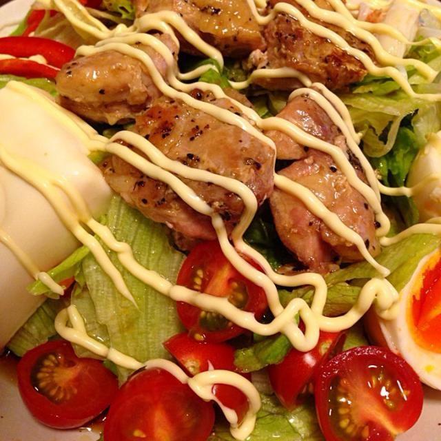 鶏肉とおうどん食べたくて - 13件のもぐもぐ - サラダうどん by jminkstone108