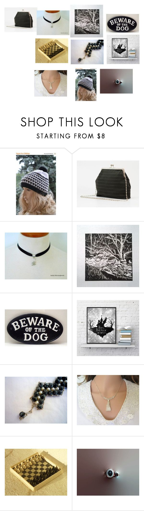 Somethings are Black and White by missy69-etsy on Polyvore featuring etsytreasury
