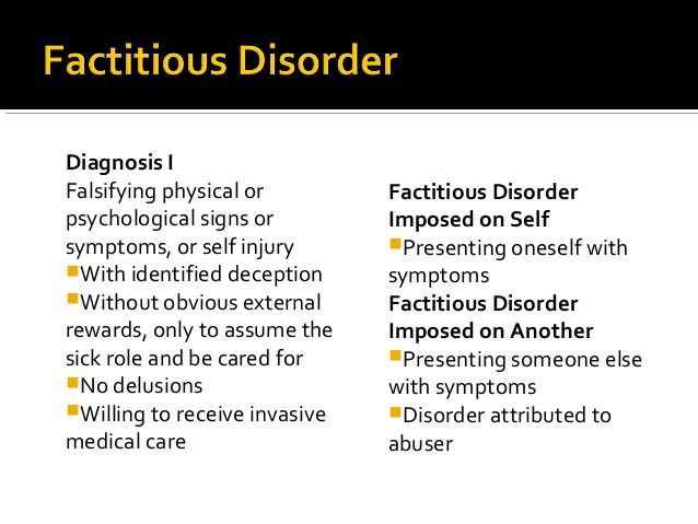 more... factitious disorder imposed on another