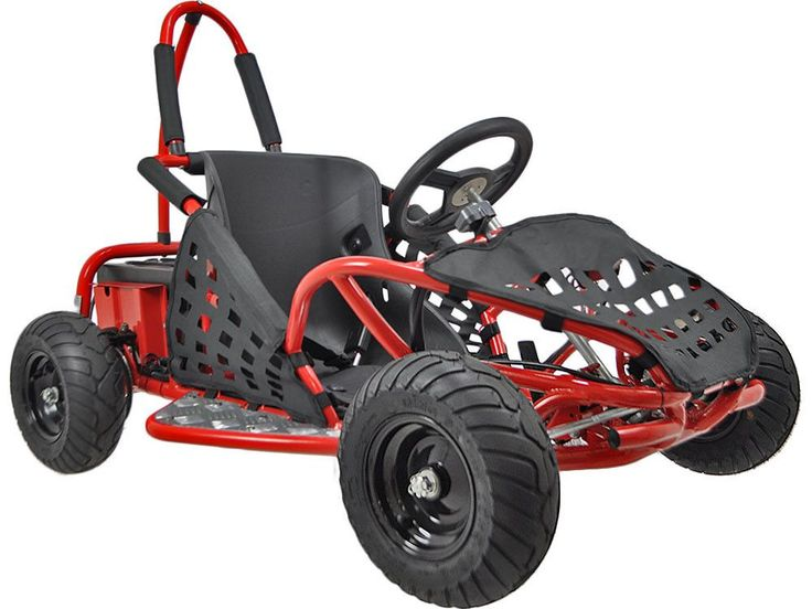 4 Stroke Off Road GAS Go Kart for Kids - MotoTec Gas Powered Off Road Go Kart -Red