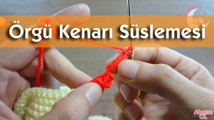 Örgü kenarlarına süsleme çeşitleri #örgü #bebek #hırka #knitting #battaniye