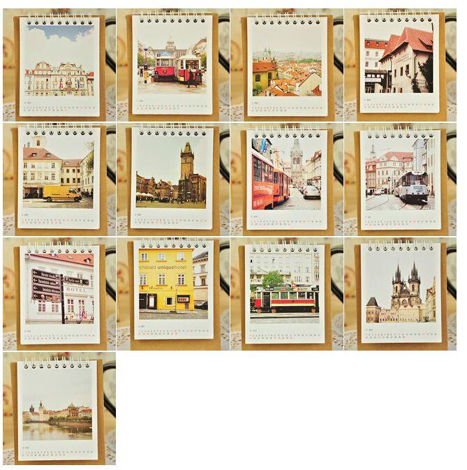 View Ciry Design Table Desktop Calendar