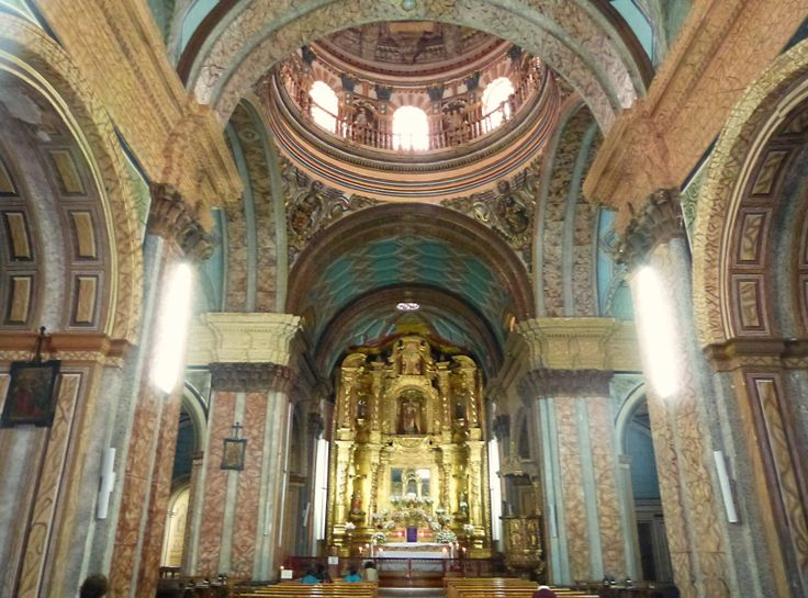 The inner part of one of the many churches in #Quito #Ecuador