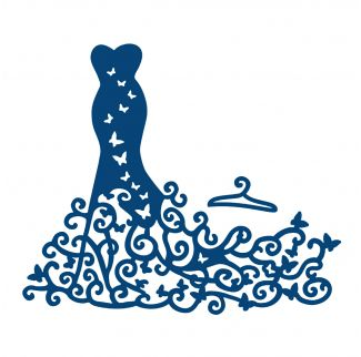 D157 Tattered Lace Dies - Red Carpet Dress