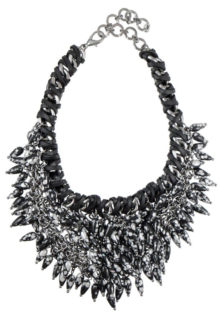 Rochetta Stone Fringe Necklace