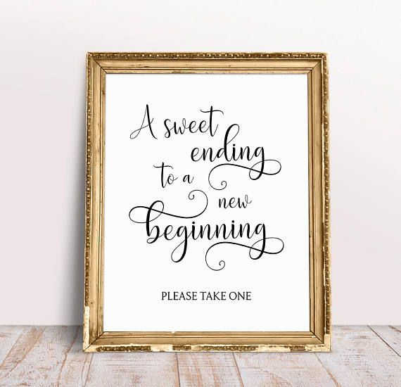 A Sweet Ending To A New Beginning, Wedding Quotes, Wedding