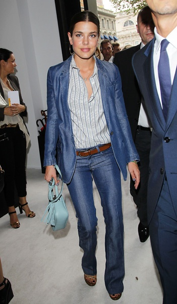 Charlotte Casiraghi- head to toe denim