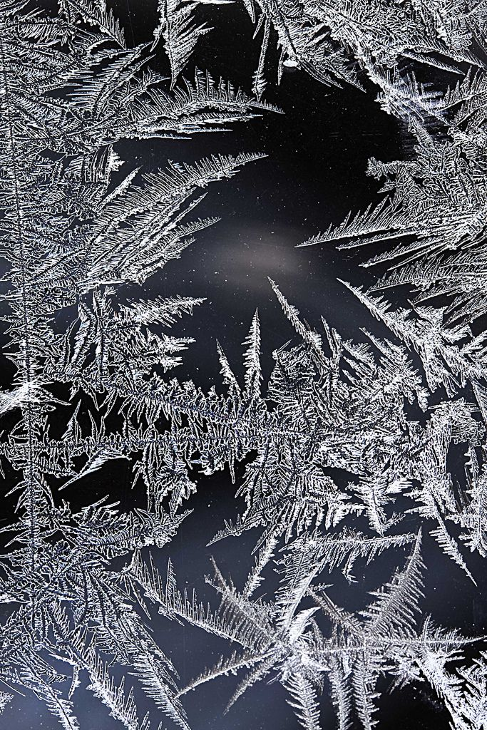 ..ice crystals shot through our window a night with -25 C outside...