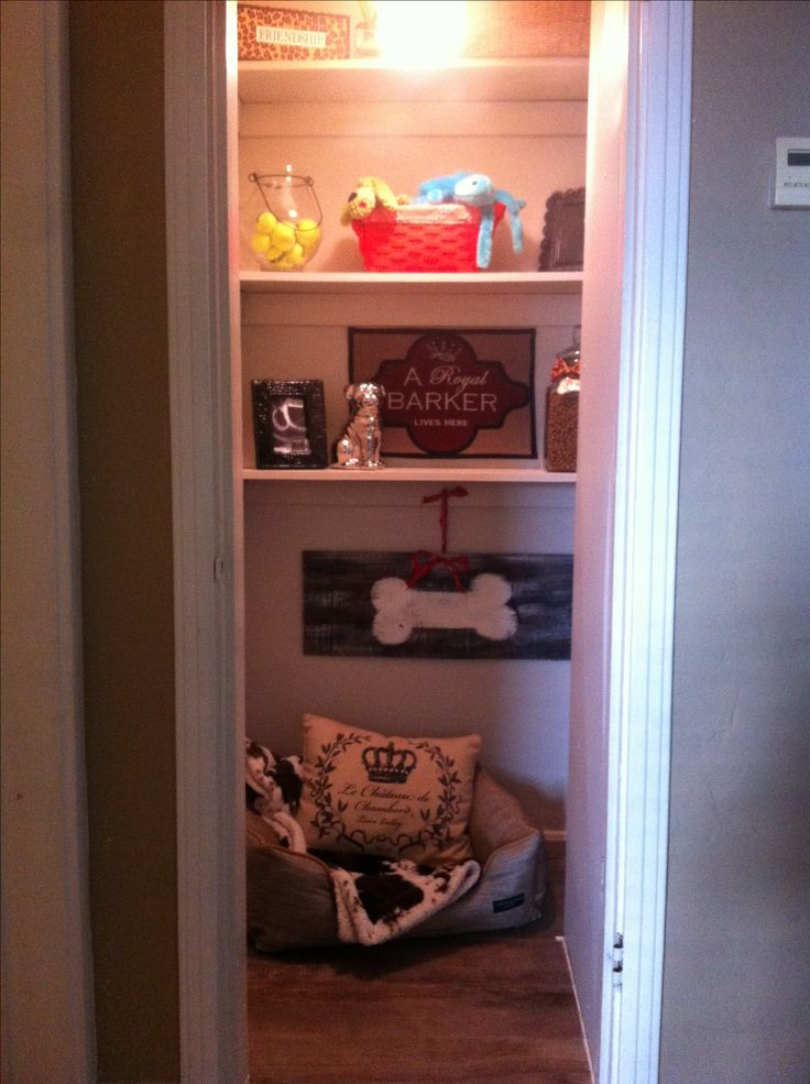 Building a dog room in an unused closet instead of having an ugly kennel