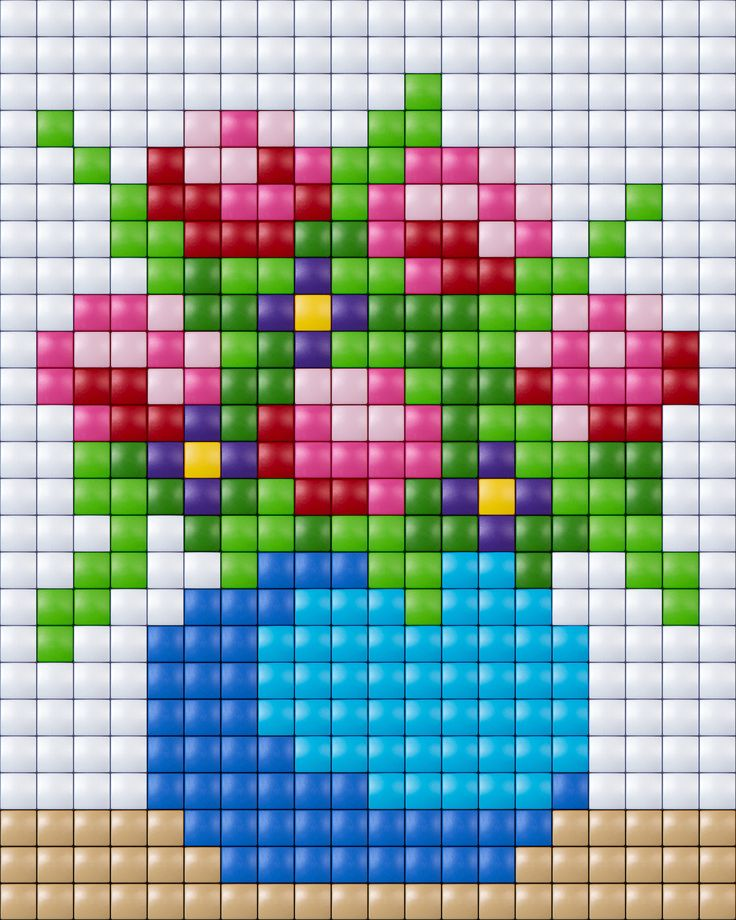 Flower cross stitch.