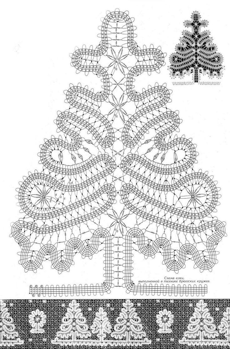 вязание крючком снежинок