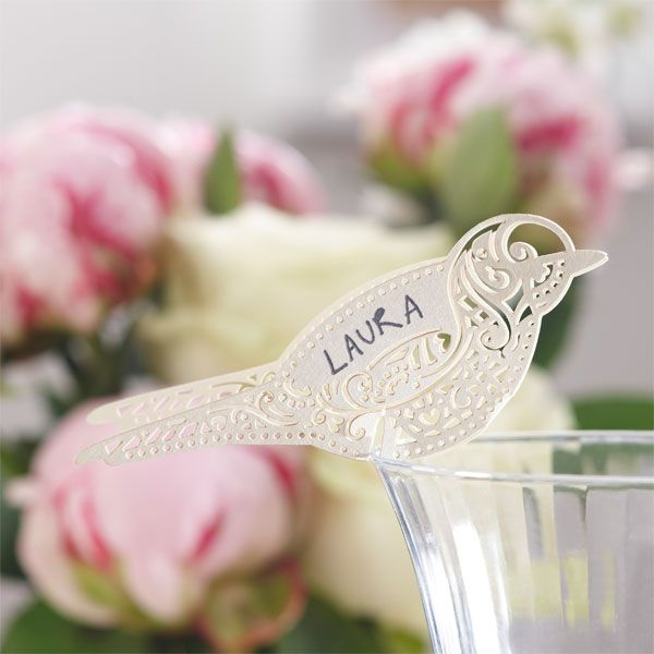 A Vintage Affair PartyIvory Bird Place Cards for Glass£3.9910pk