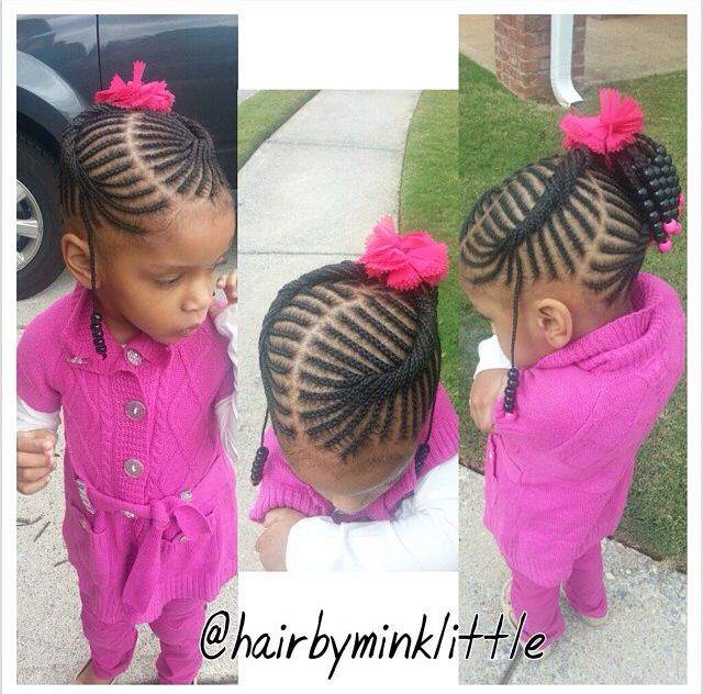 Lil Black Girl Hairstyles For Wedding : Braids hair filles tresses de et