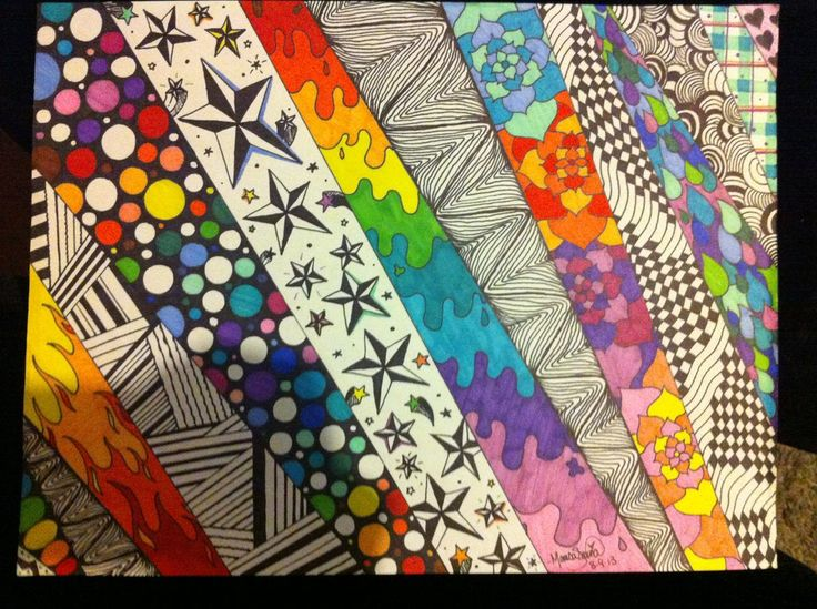 Sharpie Doodle Art | sharpie panel doodle by marisasarina traditional art drawings other ...