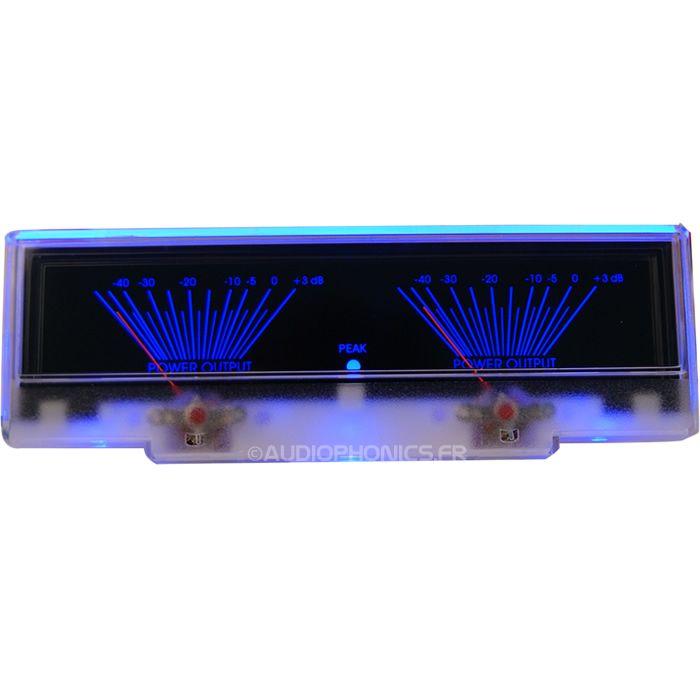 TEK Vumétre rétroéclairage bleu dB 155mm Les vumètres du constructeur sont conçus pour fonctionner avec les modules de contrôle éponymes.  D'une haute qualité et utilisés dans l'industrie professionnelle, ceux-ci vous permettrons de bénéficier d'une esthétique Vintage sur vos réalisations les plus modernes.