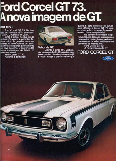 Ford Corcel GT - adv Brasil (1973)