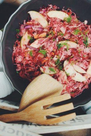 Zelný salát s řepou / superfood