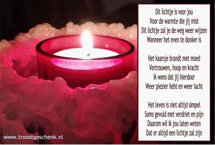 Lichtje in de duisternis www.troostgeschenk.nl