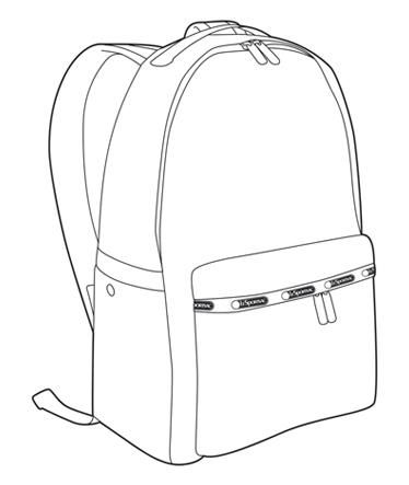 backpack drawing